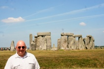 At Stonehenge, 13 July 2013.