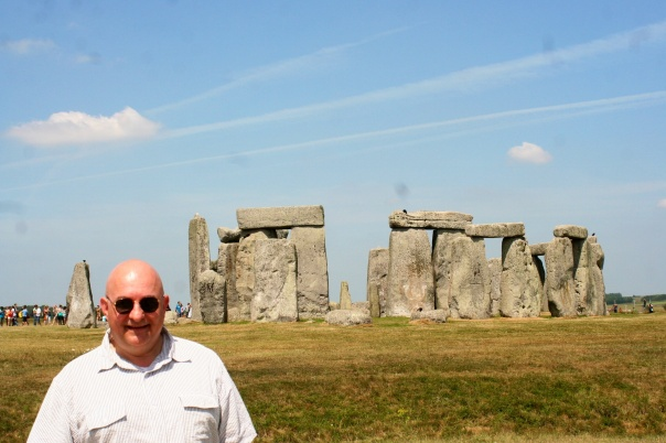 At Stonehenge, 13 July 2013.