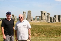 With Kevin at Stonehenge.