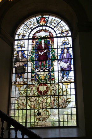 The Christopher Wren window at St. Lawrence Jewry.