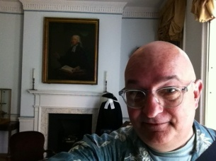 In Wesley's sitting room.