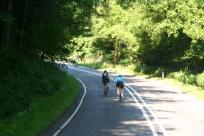 Sunday morning cyclists.
