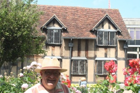 At Shakespeare's birthplace.