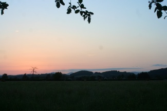 Sunset from Stirling.