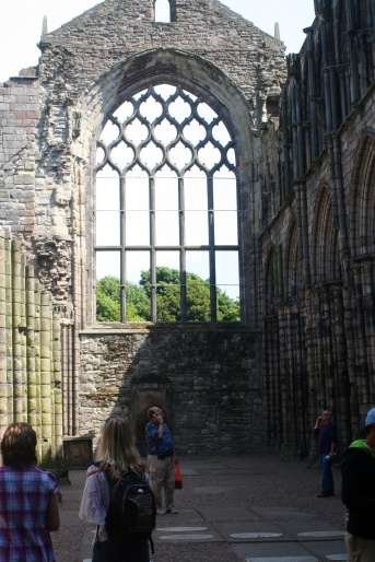 Ruins of a monastery founded King David I on the site of Holyrood Palace.
