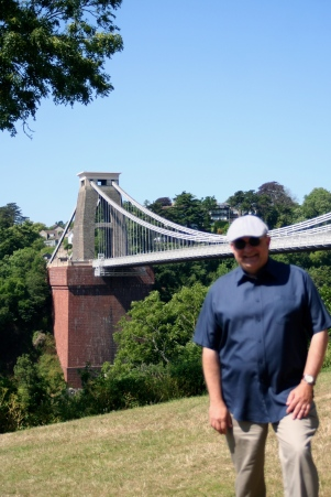 At the Clifton Suspension Bridge.