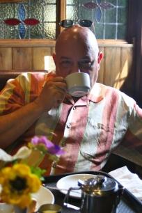 Drinking tea at Tintern