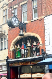 Late Victorian clock, ringing the quarter-hour.