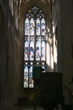 The north transept at St. Mary Redcliffe.