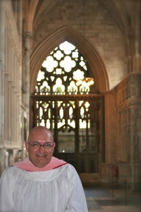 At Exeter Cathedral, England.