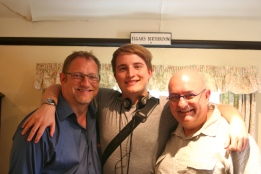With George and Peter, in the very room.....