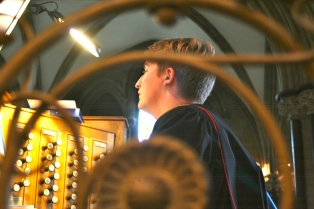 Peter Yardley-Jones, our wonderful organist.