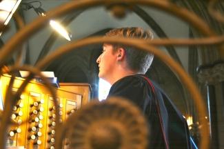 Peter Yardley-Jones, our wonderful organist.