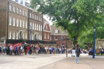 The line to see the Crown Jewels.