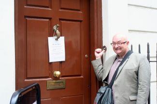 Ben Franklin's doorbell.