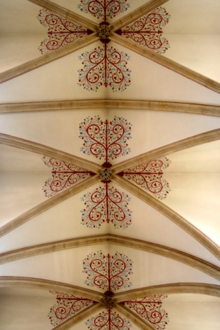 Ceiling of nave.