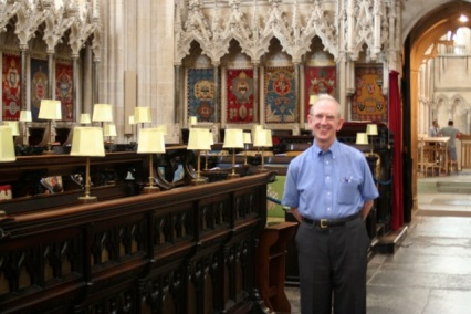 John Schaefer in the Quire at Wells.