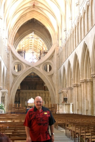In the nave at Wells.