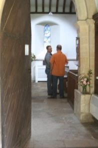 Michael and George in the church.