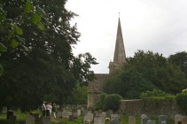 The church from the lych gate.