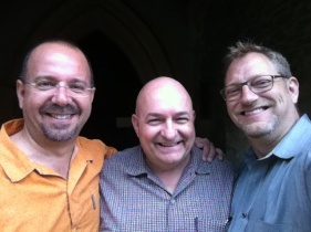 With Michael Messina and George Emblom in Gloucester last evening.