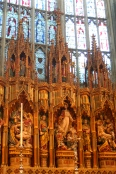From my seat in the Quire, the reredos and a portion of the East Window.