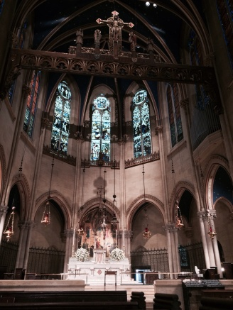 I attended noontime Mass at the Church of St. Mary the Virgin, Times Square.