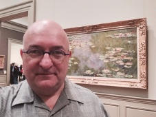 With one of Monet's water lilies at the Met.