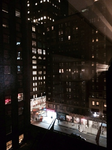 The 11 p.m. view from my hotel.
