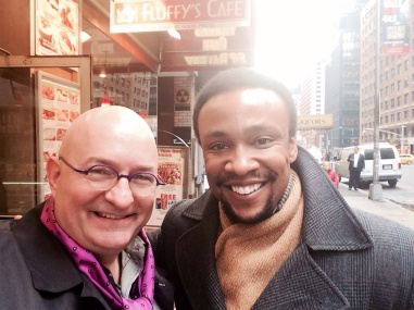 With Willis White in NYC.