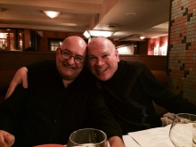With Kevin at dinner after the concert.