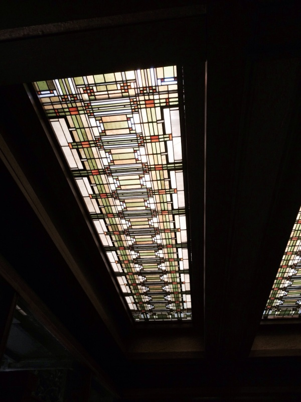 Office reception area skylight.
