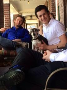 Samson poses with Liam.