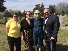 Karen Carter, Angela and Marie Blocher, me.
