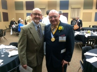 With Russ Berlin, my most important instrumental teacher.