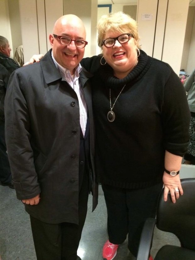 With the Mother Abbess, Christine Brewer, after the performance.