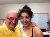 With Cher at the end of last school year. Crazy selfie day.