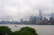 Manhattan view from the top of the Liberty pedestal.