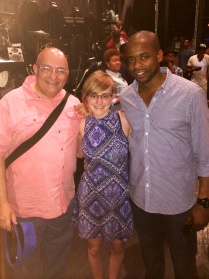 With Dule Hill after AFTER MIDNIGHT.