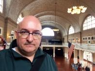 Ellis Island. Anna photo-bombed me.