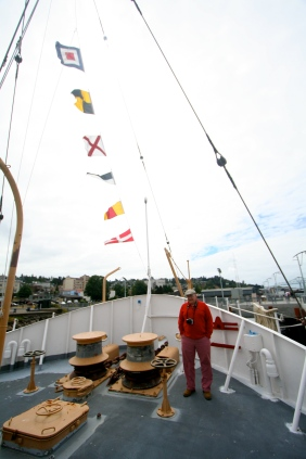 On board the Coast Guard lightship.