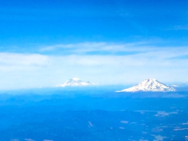 Mt. Rainer in the distance to the north.
