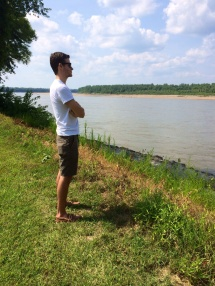 J-Dog in New Haven, by the Missouri River.