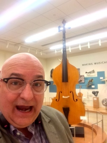 This one plays two octaves below the cello. One must stand on a stand to stand it.