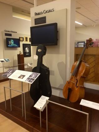 Casals' cello he kept in Puerto Rico.