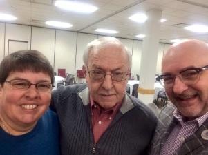 With Pop and Karen.