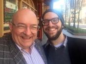 With former student Matt.