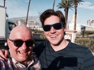 With Charlie in Las Vegas.