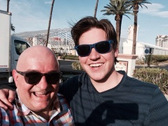 With Charlie in Las Vegas.