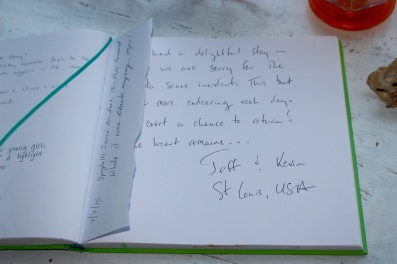 The guestbook. Antwerp 2015.